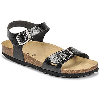 鞋子 女孩 凉鞋 Citrouille et Compagnie RELUNE 黑色 / 蛇纹
