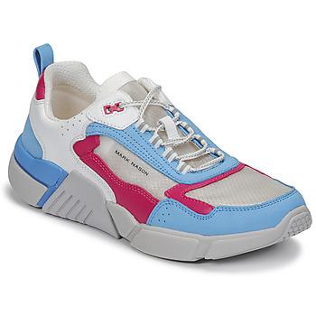 鞋子 女士 球鞋基本款 Skechers 斯凯奇 BLOCK/WEST 白色 / 蓝色 / 玫瑰色