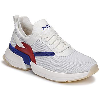 鞋子 女士 球鞋基本款 Skechers 斯凯奇 SPLIT/OVERPASS 白色 / 蓝色 / 红色