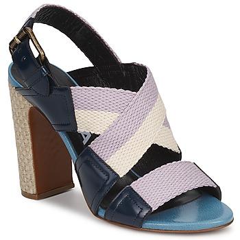 鞋子 女士 涼鞋 Rochas 巴黎羅莎 NASTR 黑色 / 紫羅蘭 / 淺米色