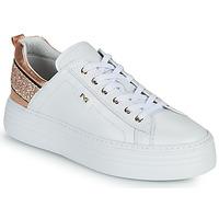 鞋子 女士 球鞋基本款 Nero Giardini GATTO 白色 / 玫瑰色 / 金色