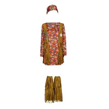 衣服 女士 角色扮演 Fun Costumes COSTUME ADULTE HIPPIE HOTTIE 多彩