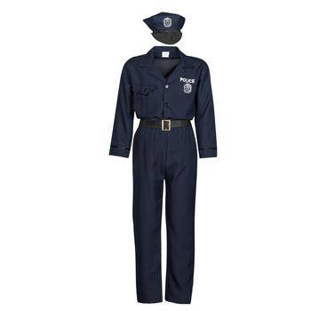 衣服 男士 角色扮演 Fun Costumes COSTUME ADULTE OFFICIER DE POLICE 多彩