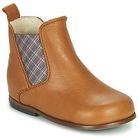 鞋子 女孩 短筒靴 Little Mary ARON 棕色