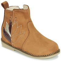 鞋子 女孩 短筒靴 Little Mary KARRY 棕色