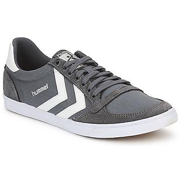 鞋子 男士 球鞋基本款 Hummel TEN STAR LOW CANVAS 灰色 / 白色