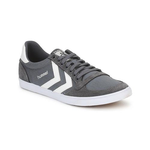 鞋子 球鞋基本款 Hummel TEN STAR LOW CANVAS 灰色 / 白色