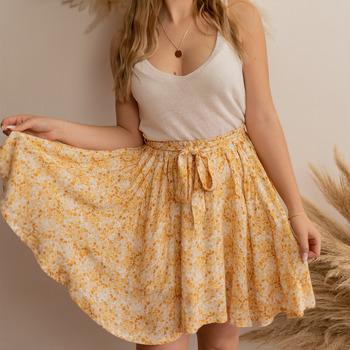 衣服 女士 半身裙 Céleste EGLANTINE 黄色 / 白色