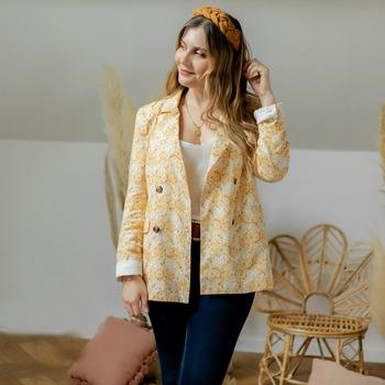 衣服 女士 外套/薄款西服 Céleste ALIZE 黄色 / 白色