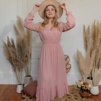 衣服 女士 长裙 Céleste COLOMBE 玫瑰色