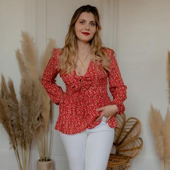 衣服 女士 女士上衣/罩衫 Céleste ROSSIGNOL 红色 / 多彩
