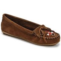 鞋子 女士 皮便鞋 Minnetonka THUNDERBIRD II 棕色 / Fonce