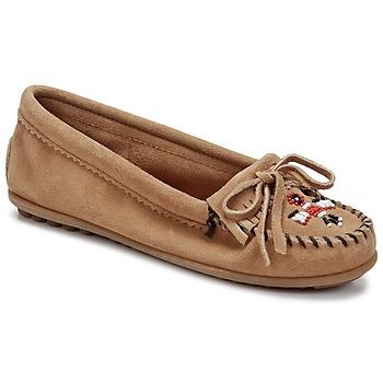 鞋子 女士 皮便鞋 Minnetonka THUNDERBIRD II 灰褐色