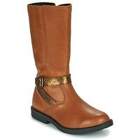 鞋子 女孩 都市靴 GBB OKINDI 棕色