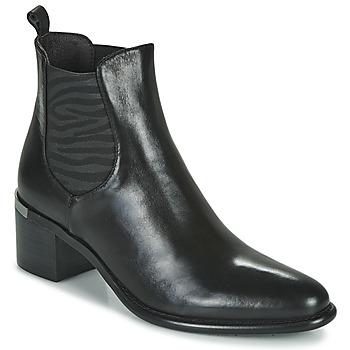 鞋子 女士 短靴 Adige DIVA V1 VEAU GARNET NOIR 黑色
