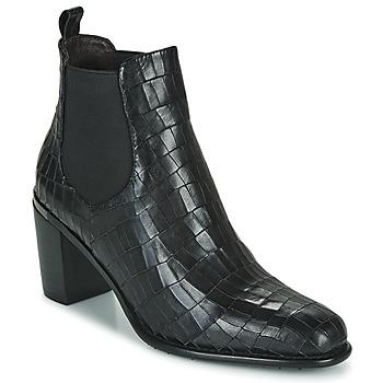 鞋子 女士 短靴 Adige FANNY V5 CROCO NOIR 黑色