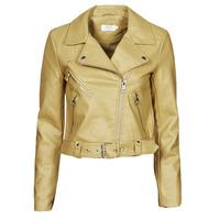 衣服 女士 皮夹克/ 人造皮革夹克 Only ONLVALERIE 黄色
