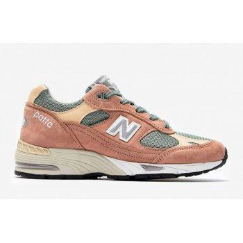 鞋子 球鞋基本款 New Balance新百伦 991 x Patta Dusty Pink/Light Petrol