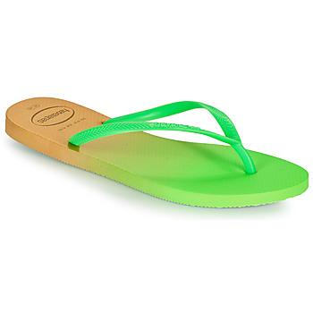 鞋子 女士 人字拖 Havaianas 哈瓦那 SLIM GRADIENT 白色 / 绿色