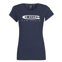 衣服 女士 短袖体恤 G-Star Raw GRAPHIC 20 SLIM 蓝色