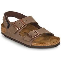 鞋子 男孩 凉鞋 Birkenstock 勃肯 MILANO HL 棕色