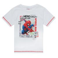 衣服 男孩 短袖体恤 TEAM HEROES KIDS SPIDERMAN TEE 白色