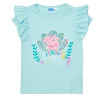 衣服 女孩 短袖体恤 TEAM HEROES KIDS PEPPA PIG TEE 蓝色
