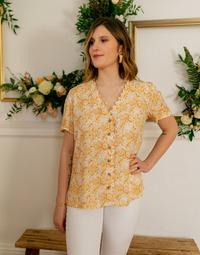 衣服 女士 女士上衣/罩衫 Céleste MESANGE 黄色 / 白色