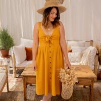 衣服 女士 长裙 Céleste CAMOMILLE 黄色