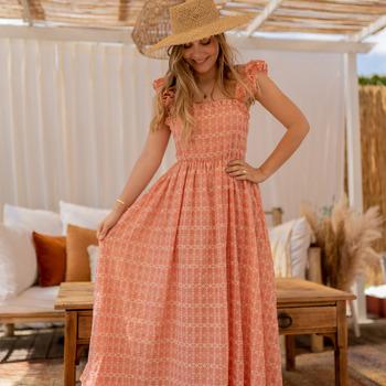衣服 女士 长裙 Céleste AURORE 玫瑰色
