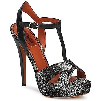 鞋子 女士 涼鞋 Missoni VM034 黑色 / 白色