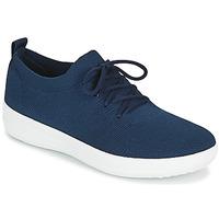 鞋子 女士 球鞋基本款 FitFlop F-SPORTY UBERKNIT SNEAKERS 海蓝色