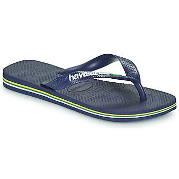 鞋子 儿童 人字拖 Havaianas 哈瓦那 BRASIL LOGO 海蓝色