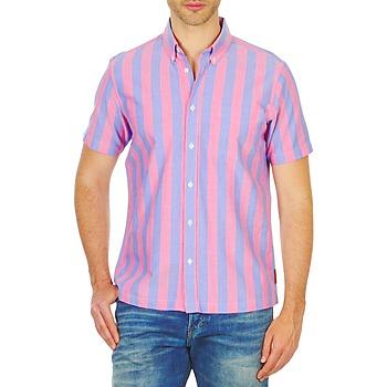衣服 男士 短袖衬衫 Ben Sherman 宾舍曼 BEMA00487S 玫瑰色 / 蓝色