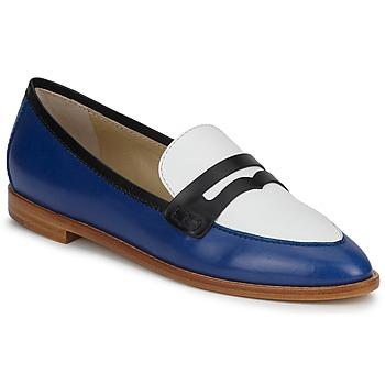 鞋子 女士 皮便鞋 Etro 艾特罗 MOCASSIN 3767 蓝色 / 黑色 / 白色