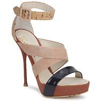 鞋子 女士 凉鞋 John Galliano AN6363 玫瑰色 / 海蓝色 / 米色