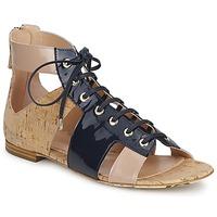 鞋子 女士 凉鞋 John Galliano AN6379 蓝色 / 米色 / 玫瑰色