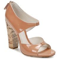 鞋子 女士 凉鞋 John Galliano AN6364 玫瑰色 / 米色