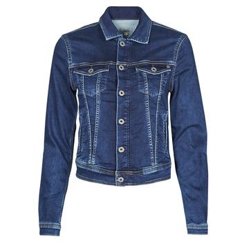 衣服 女士 牛仔外套 Pepe jeans CORE JACKET 蓝色