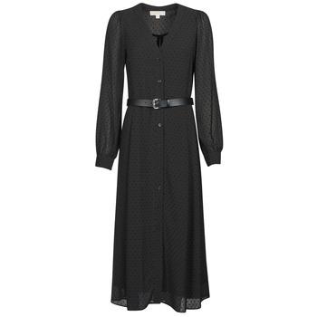 衣服 女士 长裙 Michael by Michael Kors CRINKLE DOTS KATE DRS 黑色