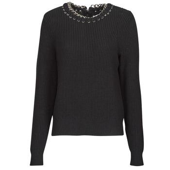 衣服 女士 羊毛衫 Michael by Michael Kors CHAIN NK SWEATER 黑色
