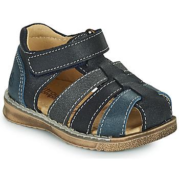 鞋子 男孩 凉鞋 Citrouille et Compagnie FRINOUI 海蓝色 / 灰色