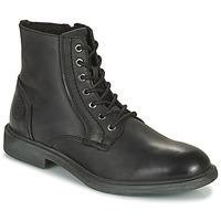 鞋子 男士 短筒靴 Jack & Jones 杰克琼斯 JFW KARL LEATHER BOOT 黑色