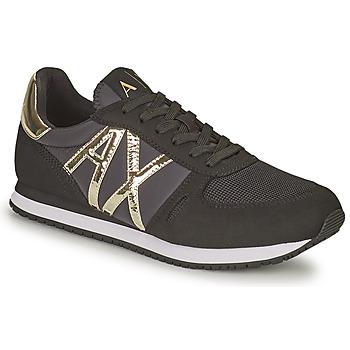 鞋子 女士 球鞋基本款 EMPORIO ARMANI EAX HALOISE 黑色 / 金色