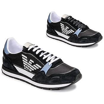 鞋子 男士 球鞋基本款 Emporio Armani ANIMA 黑色 / 蓝色 / 波尔多红