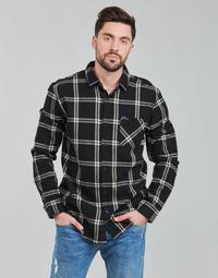 衣服 男士 长袖衬衫 Rip Curl 里普柯尔 CHECKED OUT L/S FLANNEL 黑色