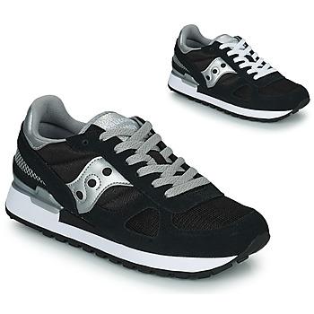 鞋子 女士 球鞋基本款 Saucony SHADOW ORIGINAL 黑色 / 银灰色