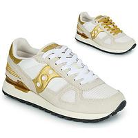 鞋子 女士 球鞋基本款 Saucony SHADOW ORIGINAL 白色 / 金色