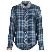 衣服 女士 衬衣/长袖衬衫 Desigual SUSAN SONTAG 蓝色