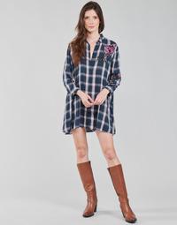 衣服 女士 长衬衫 Desigual JACARANDA 蓝色